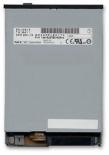 3R974 Dell floppy 1.44MB disk drive with black bezel