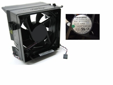 Dell NN495 fan 12V 4 wire 5 pin  & shroud for Opti & Dim SMT