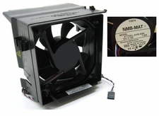 NMB-MAT 4715KL-04W-B56 fan 12V 4 wire cable  5 pin & shroud