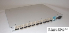 HP Surestore E 10 port short wave fiber channel hub A3724-60101