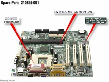 210836-001 Compaq Motherboard System Board For Presario 5000 Series