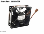 308569-001 HP fan Assy 3.5V 80MM X 25mm 3 wire