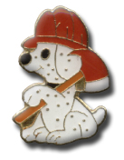 Dalmation Fire Dog Lapel Pin