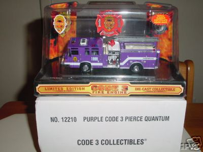 Code 3 Purple Pierce Quantum Paramedic Engine C3 Promotional (12210)