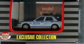 Model Power 1/87 NYPD 2005 Crown Victoria Police Car HO Scale