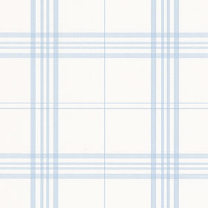 Blue and White Plaid Wallpaper in Fresh Kitchens 4