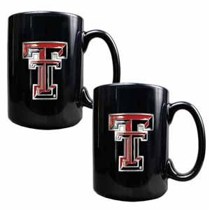 Texas Tech Red Raiders Mug Set - Black Ceramic