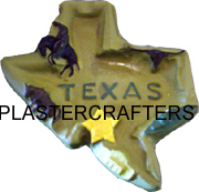 "TEXAS ASHTRAY PLASTER MOLD 4.5"" x 6"")"