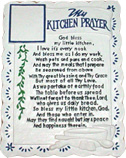 "KITCHEN PRAYER PLASTER MOLD (8.5"" x 11"")"