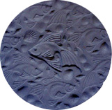 "FANCY GOLDFISH STEPPING STONE MOLD (13.75"" DIA)"
