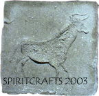 """ANTELOPE CAVE ART STEPPING STONE MOLD (12"""" DIA)"""