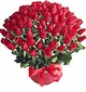 Valentine large Roses Basket 100 red roses