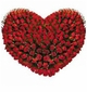 100 Red Roses in Heart Shape Arrangement valentine