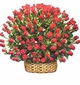 Red Rose Basket Red roses Valentines