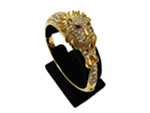 Lion Rhinestone Bangle Bracelet