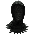 Child Black Hidden Face Mask Hood