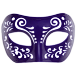 Dream Tale Purple Venetian Masquerade Mask