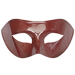 Red Venetian Masquerade Mask with Silver Glitter