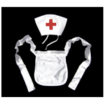 Nurse Cap & Apron Costume Accessory Set