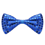 Blue Sequin Bow Tie