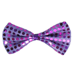 Purple Sequin Bow Tie