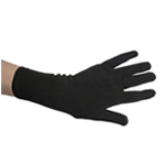 "8.5"" Stretchy Black Costume Gloves (Wrist Length)"