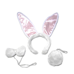 Deluxe Bunny Ears, Tail, & Bow Tie Costume Set