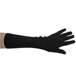 Stretchy Black Costume Gloves (Elbow Length)