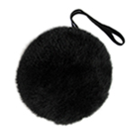 Black Plush Bunny Tail