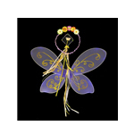 Purple Fairy Wings Costume Set