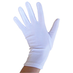 Stretchy White Costume Gloves (Wrist Length)