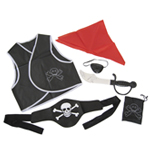 6 Piece Child Pirate Costume Accessories Set