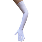 Stretchy White Costume Gloves (Opera Length)