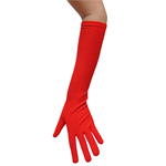 Stretchy Red Costume Gloves (Elbow Length)