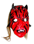 Devil Mask with Black Horns