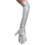 Silver Metallic Gloves