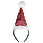 Red Sequin Santa Hat Headband