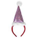 Purple Sequin Santa Hat Headband