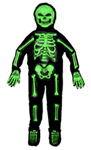 3-D Neon Green Skeleton Child Costume