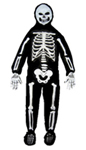 3-D White Skeleton Child Costume
