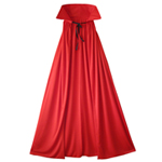 "54"" Fully Lined Deluxe Red Cape"