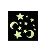 Glow In The Dark Moon & Stars (Style C)