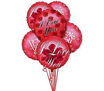 """I Love You"" Balloon Bouquet."