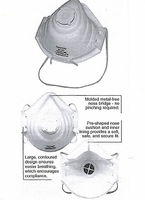 """80102V  PEAKFIT&#174  N95  PARTICULATE RESPIRATOR WITH EXHALE VALVE<font color=""""000000"""">"""