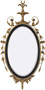 18th Century Adam Period Design Oval Mirror