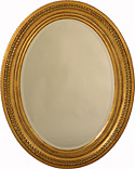 Gilt Oval Wall Mirror