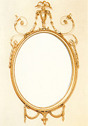 Formal Adam Period Oval Mirror