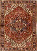 Antique Persian Heriz Oriental Rug