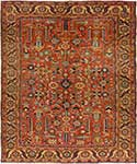 Rare Antique Heriz Persian Rug