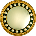 Convex Black and Gold Mirror